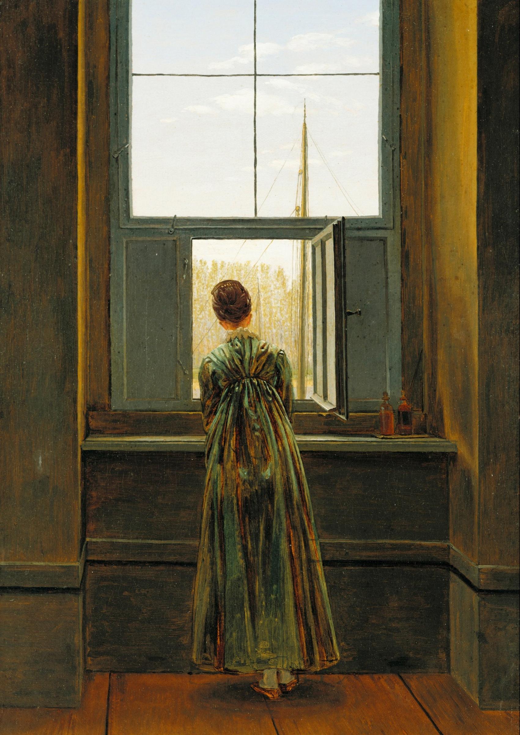 Каспар Давид Фридрих. Женщина у окна