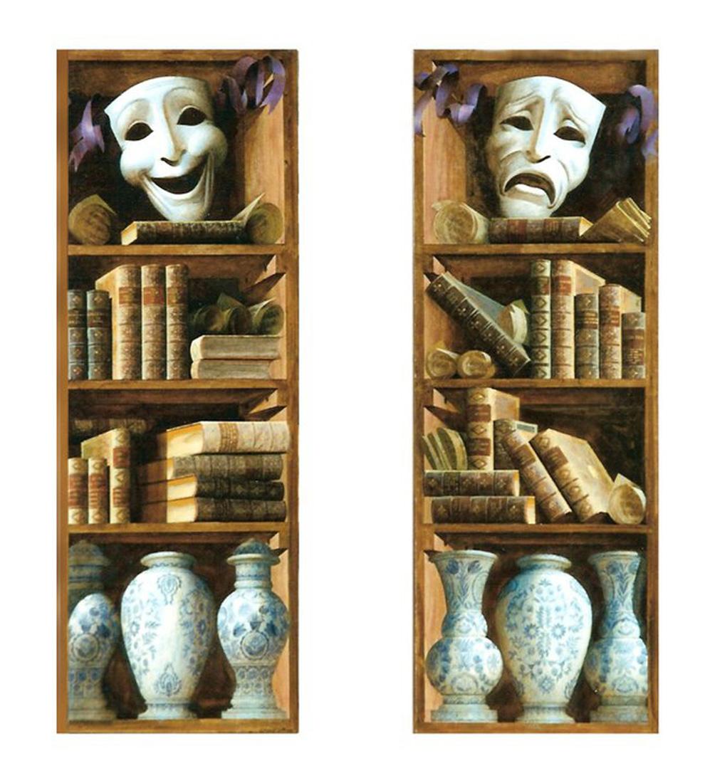 Sergey Konstantinov. Bookshelves. Painting. Artist Sergey Konstantinov.