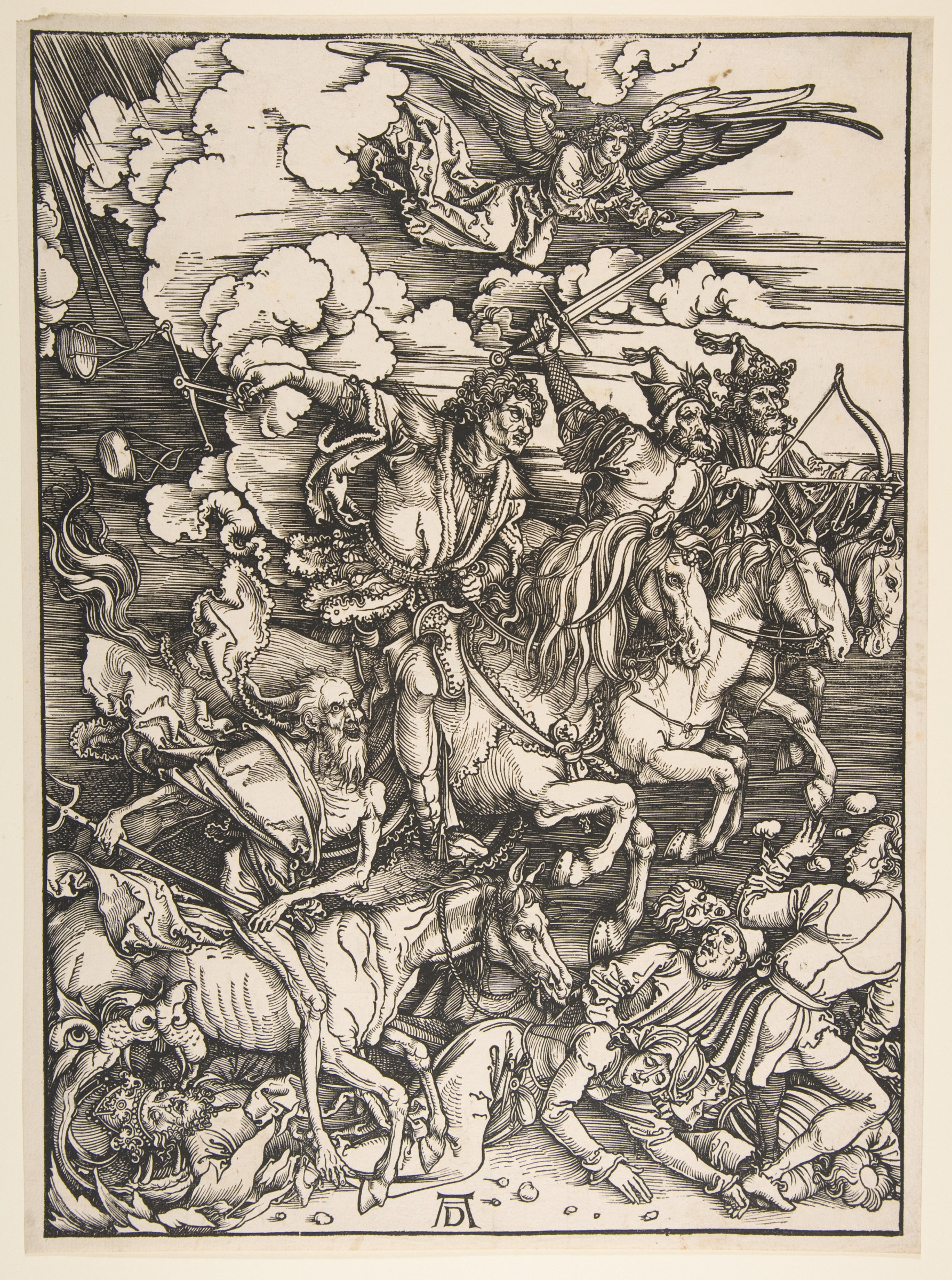 Albrecht Durer. The four horsemen of the Apocalypse.From the series the Apocalypse.