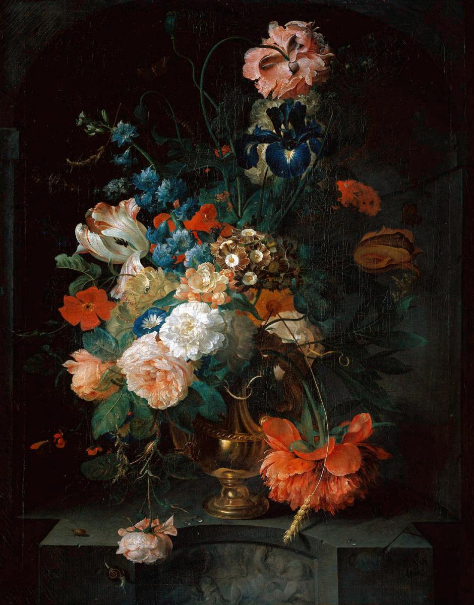 Конрат Репел. Натюрморт с цветами