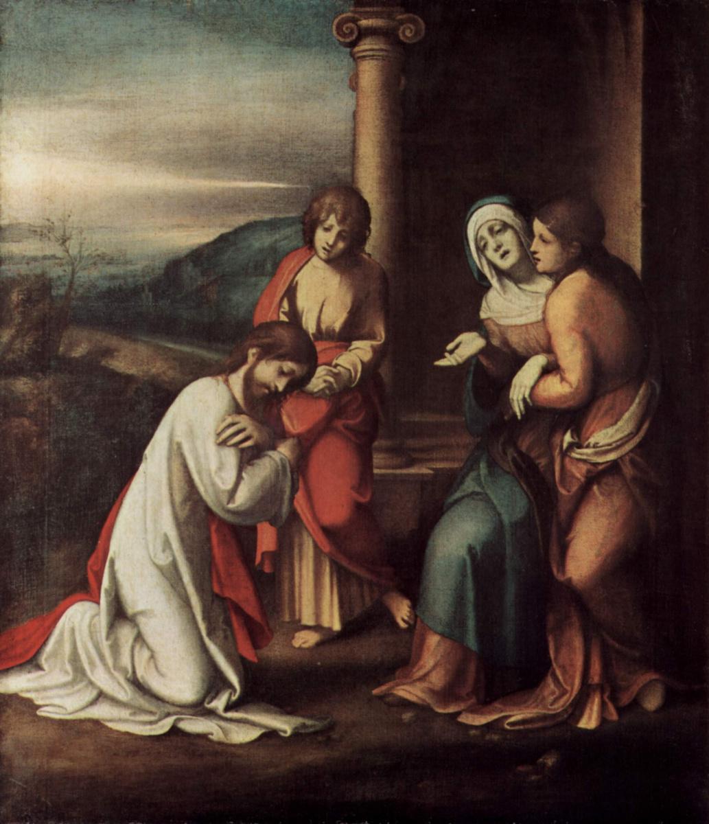 Антонио Корреджо. Прощание Христа с матерью, Марфой и Марией