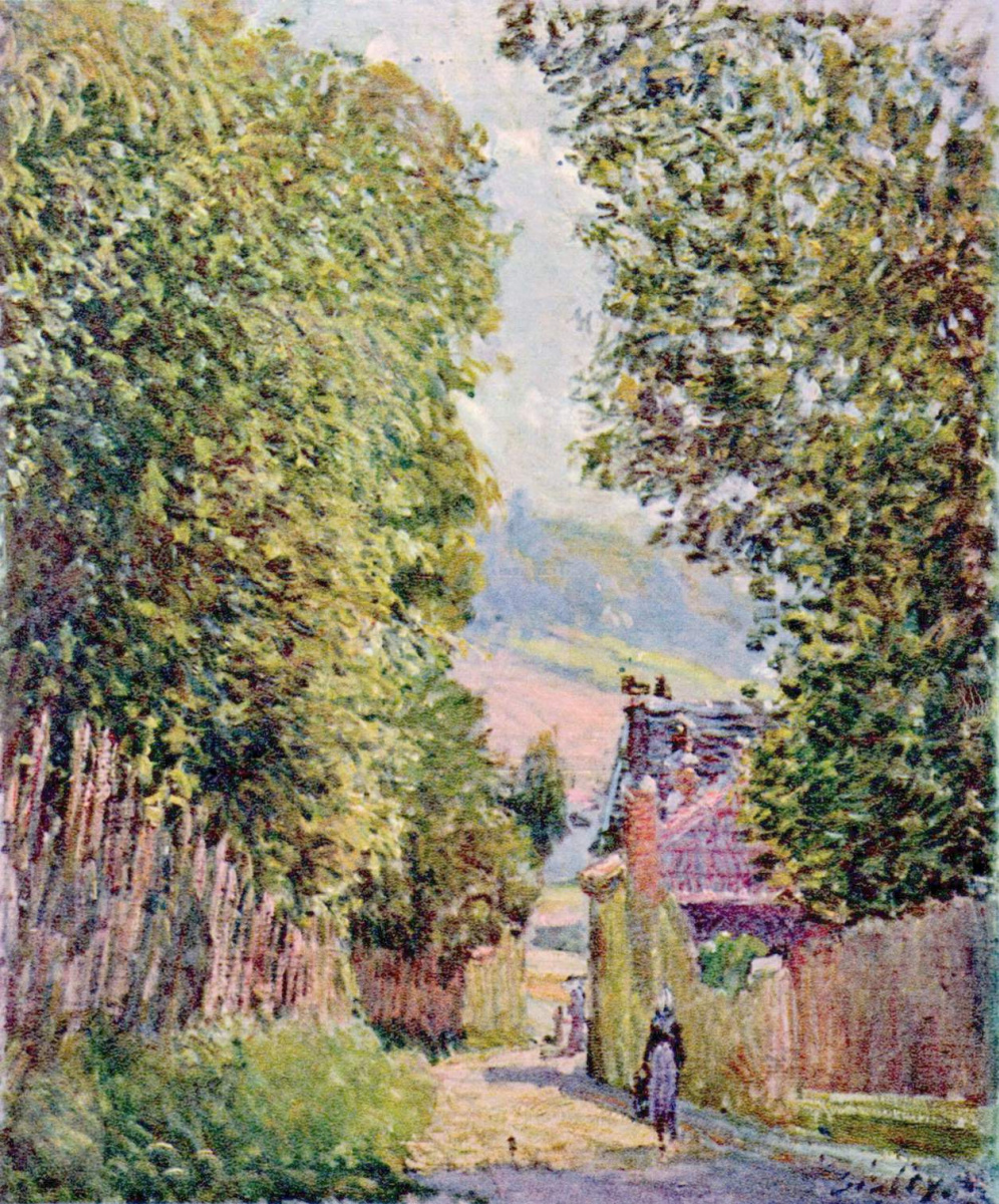 Alfred Sisley. Street in Louveciennes