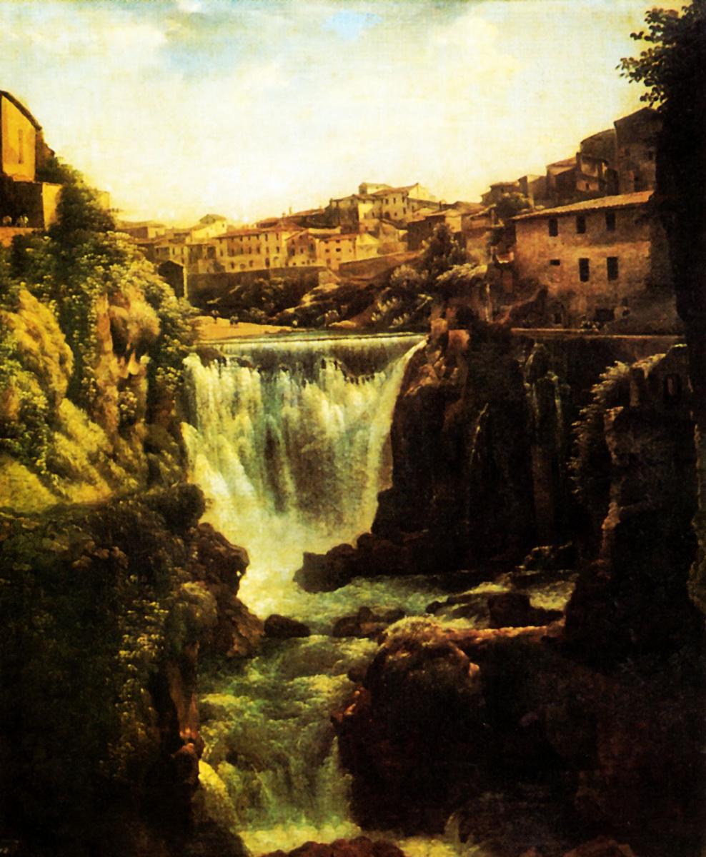 Sylvester Feodosievich Shchedrin. Waterfall in Tivoli near Rome