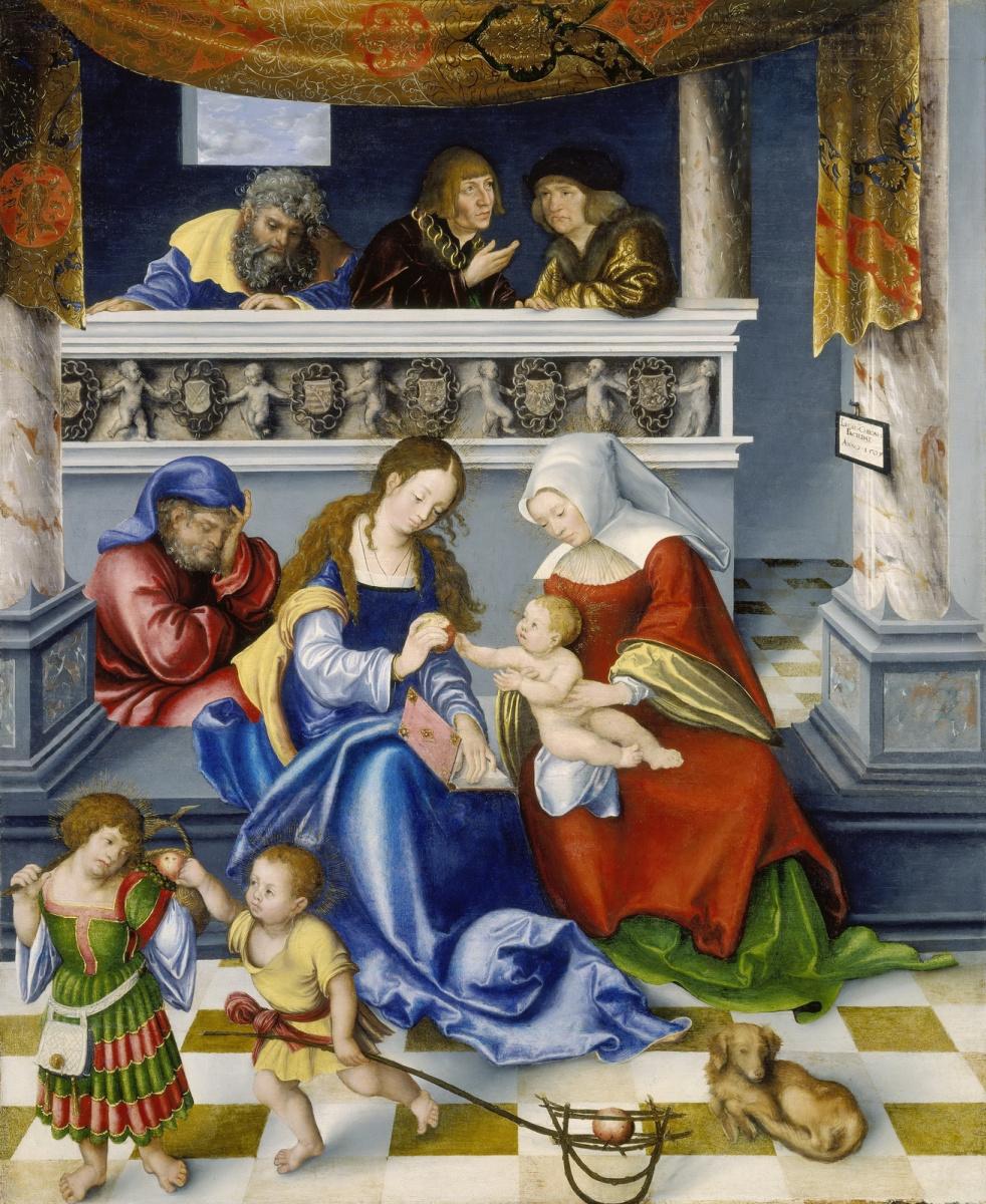 Лукас Кранах Старший. Алтарь Торгау. Святое семейство (центральная панель)