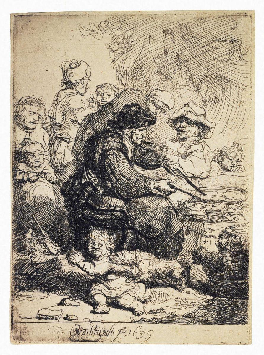 Рембрандт Харменс ван Рейн. Торговка блинами