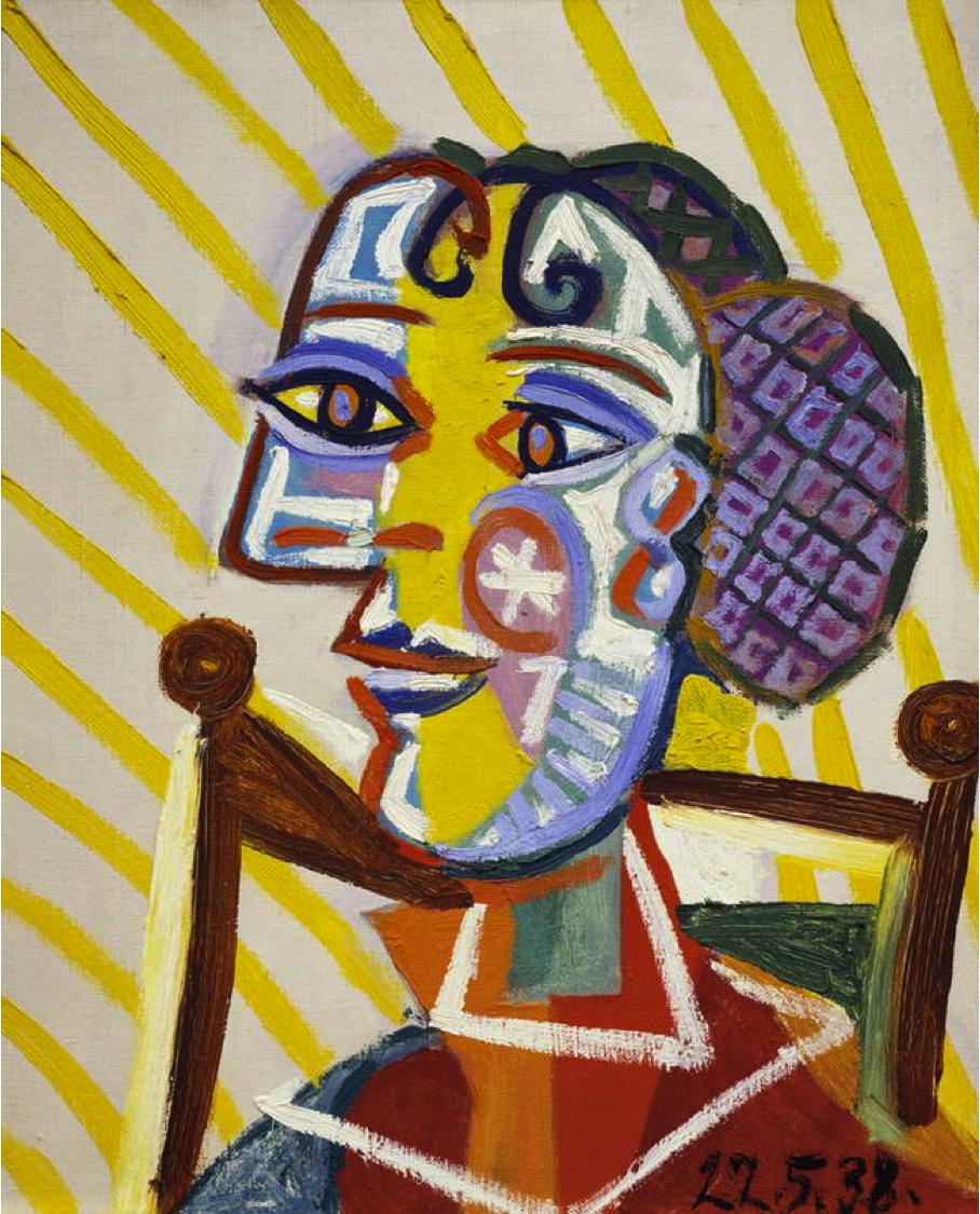 Пабло Пикассо. Женщина в сеточке для волос