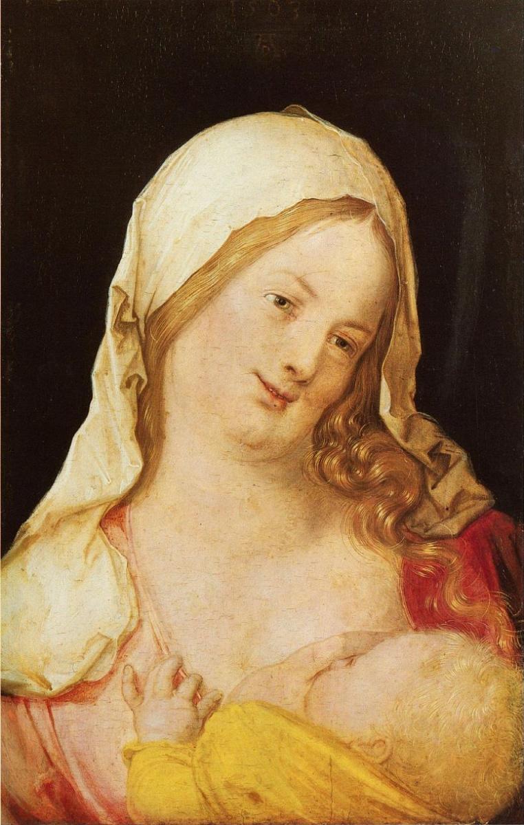 Альбрехт Дюрер. Мария с младенцем