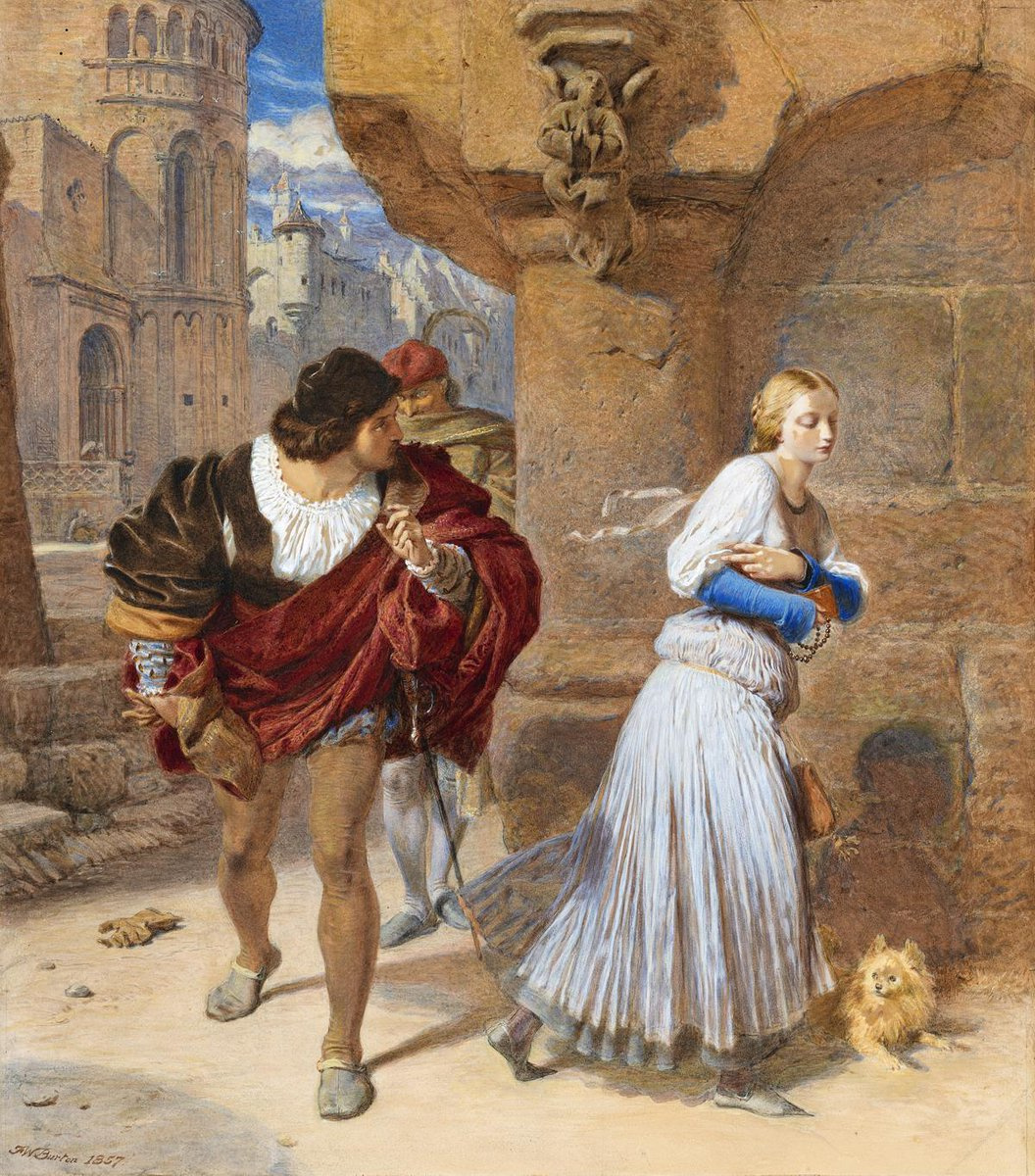 Frederick William Burton. Faust's first look at Margarita