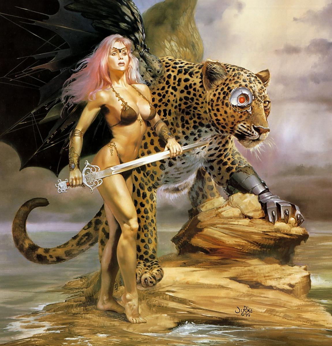 Sexy fantasy leopard porn naked photo