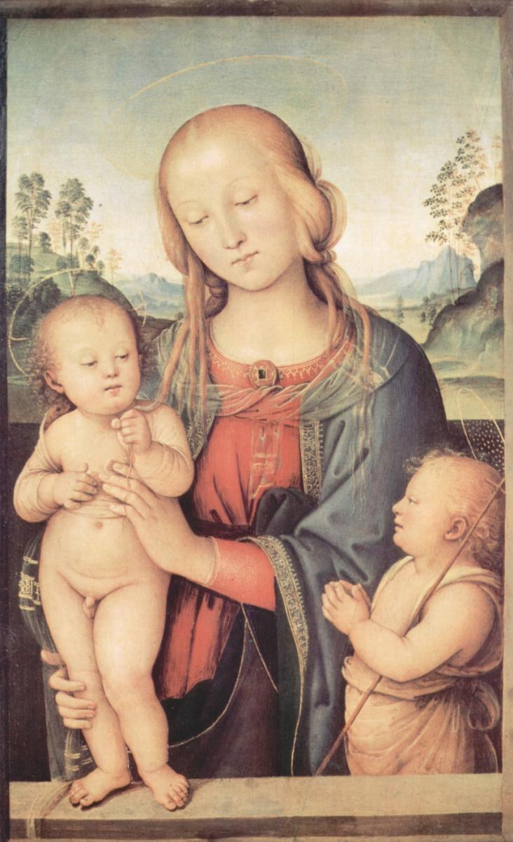 Пьетро Перуджино. Мадонна с Иоанном Крестителем
