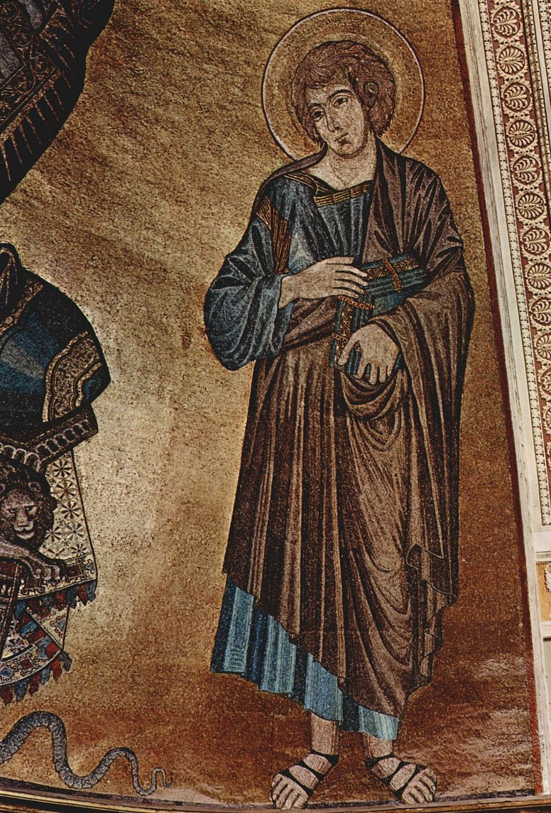 Ченни ди Пепо Чимабуэ. Мозаика Кафедрального собора в Пизе, сцена: Христос на престоле с Марией и Иоанном, деталь: Иоанн
