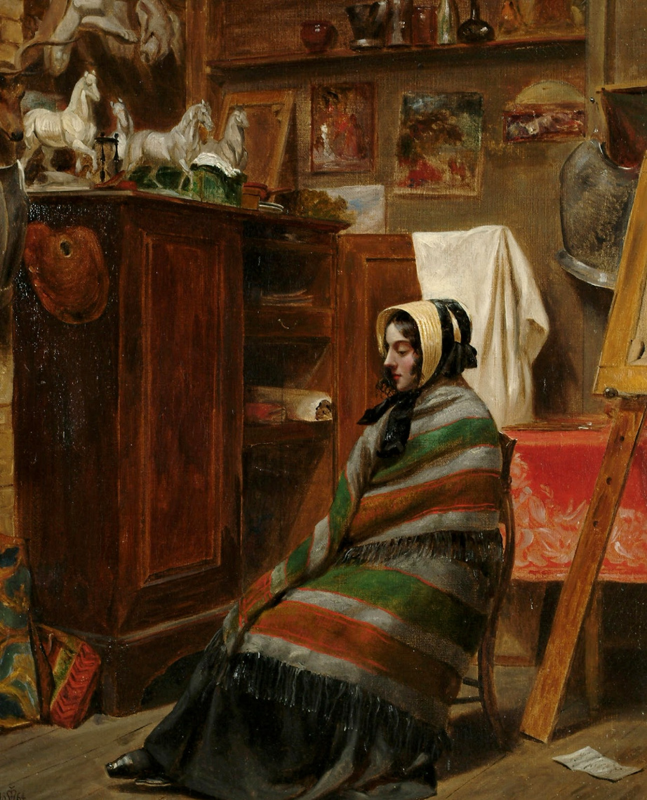 Beehives Powell Fright Great Britain 1819-1909. Model in the studio. Private collection