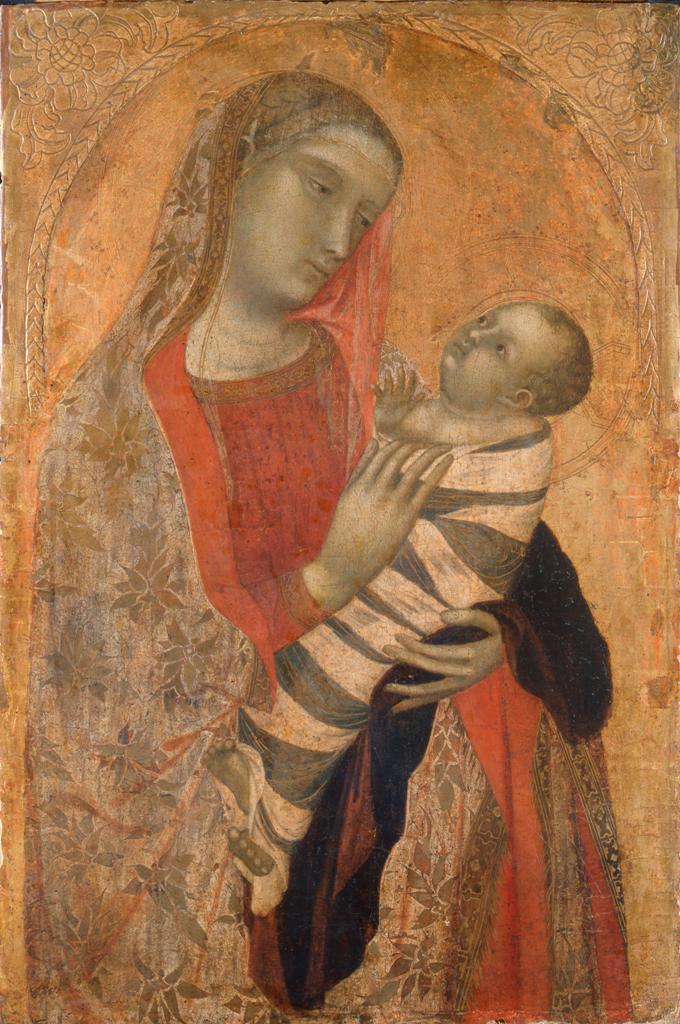 Ambrogio Lorenzetti. The Madonna and child