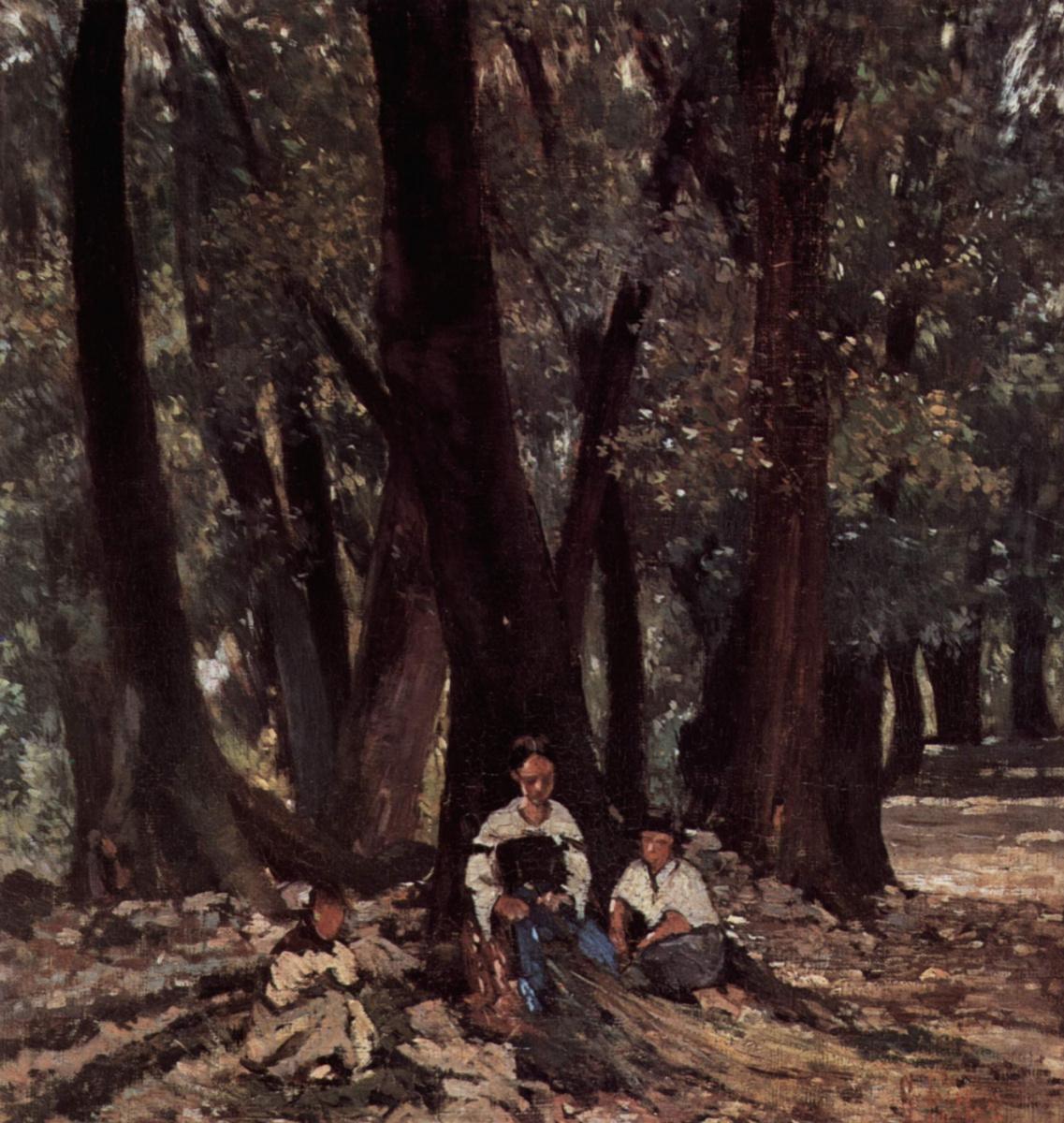 Джованни Фаттори. Крестьяне в лесу