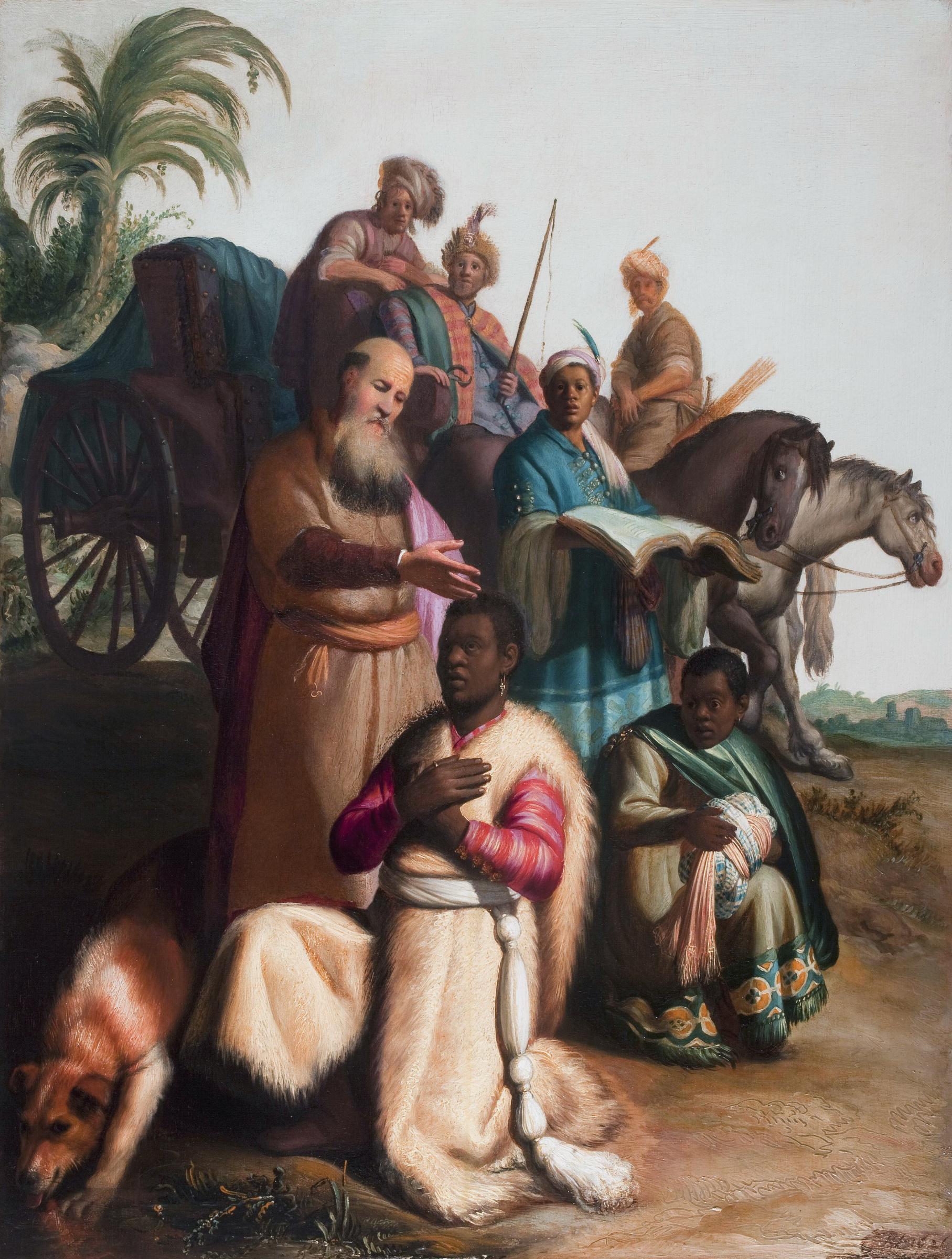 Rembrandt Harmenszoon van Rijn. The baptism of the eunuch