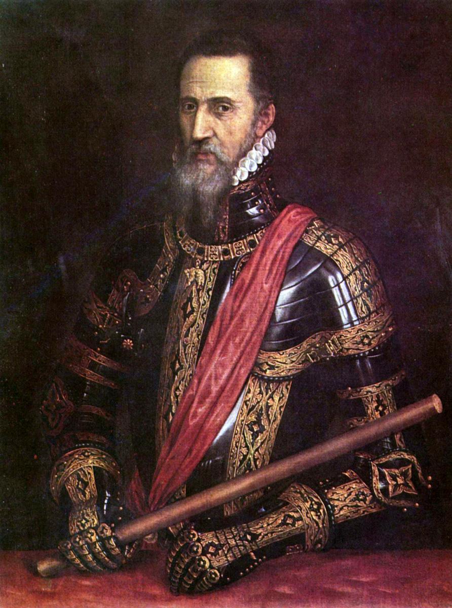 Тициан Вечеллио. Портрет мужчины в доспехах. Дон Фернандо Альварес Толедский, герцог Альба