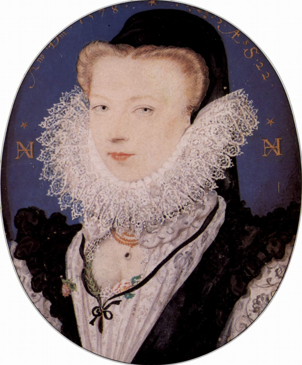 Nicolas Hilliard. Portrait of Alice brandom, wife of the artist