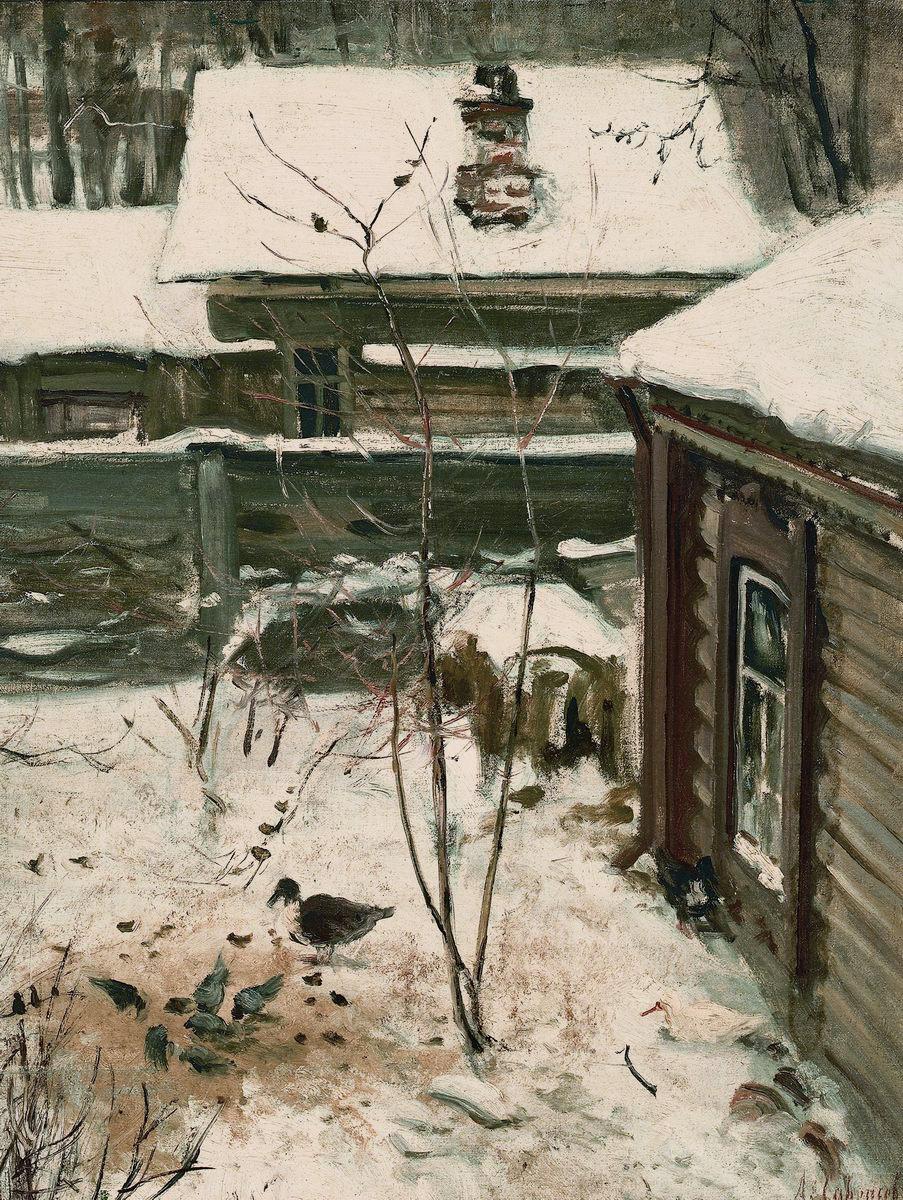 Алексей Кондратьевич Саврасов. Дворик. Зима