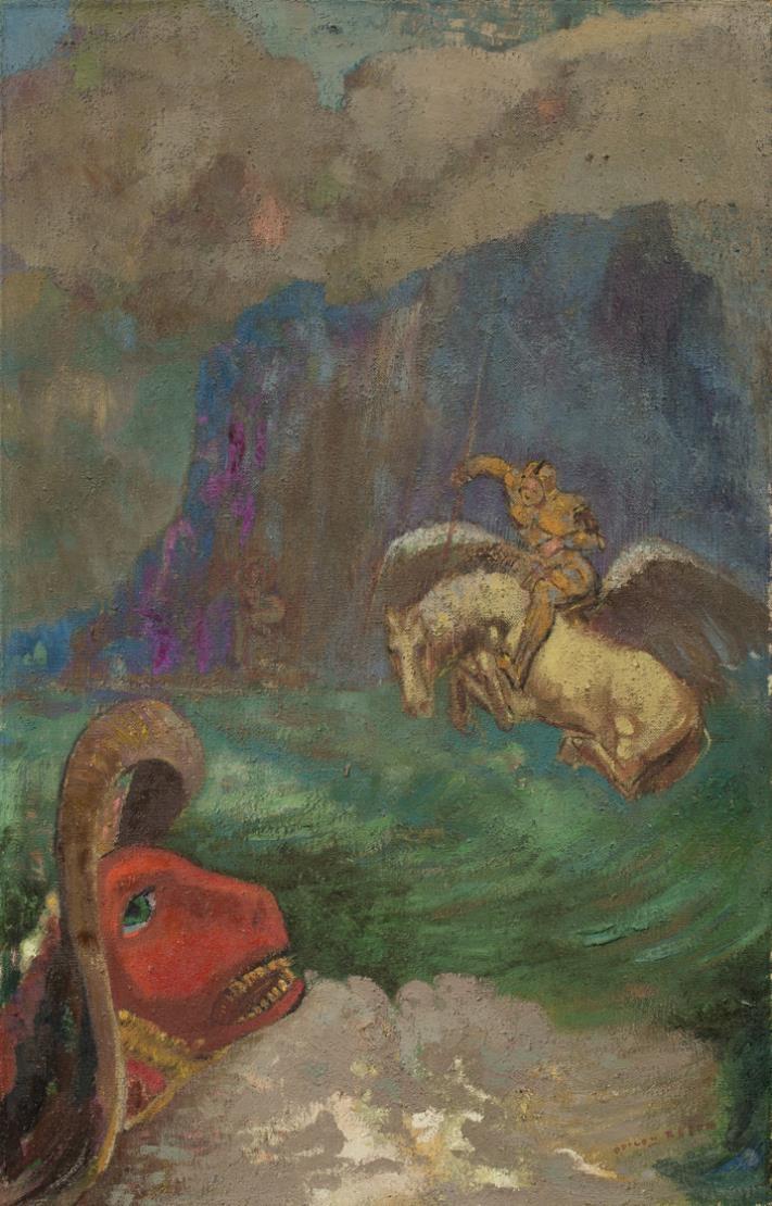 Одилон Редон. Святой Иоанн и дракон