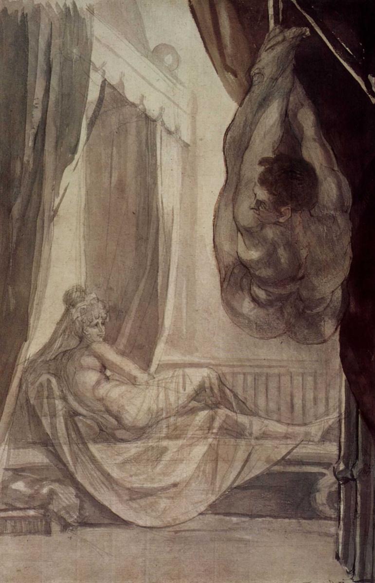 Иоганн Генрих Фюссли. Брунгильда наблюдает за Гунтером