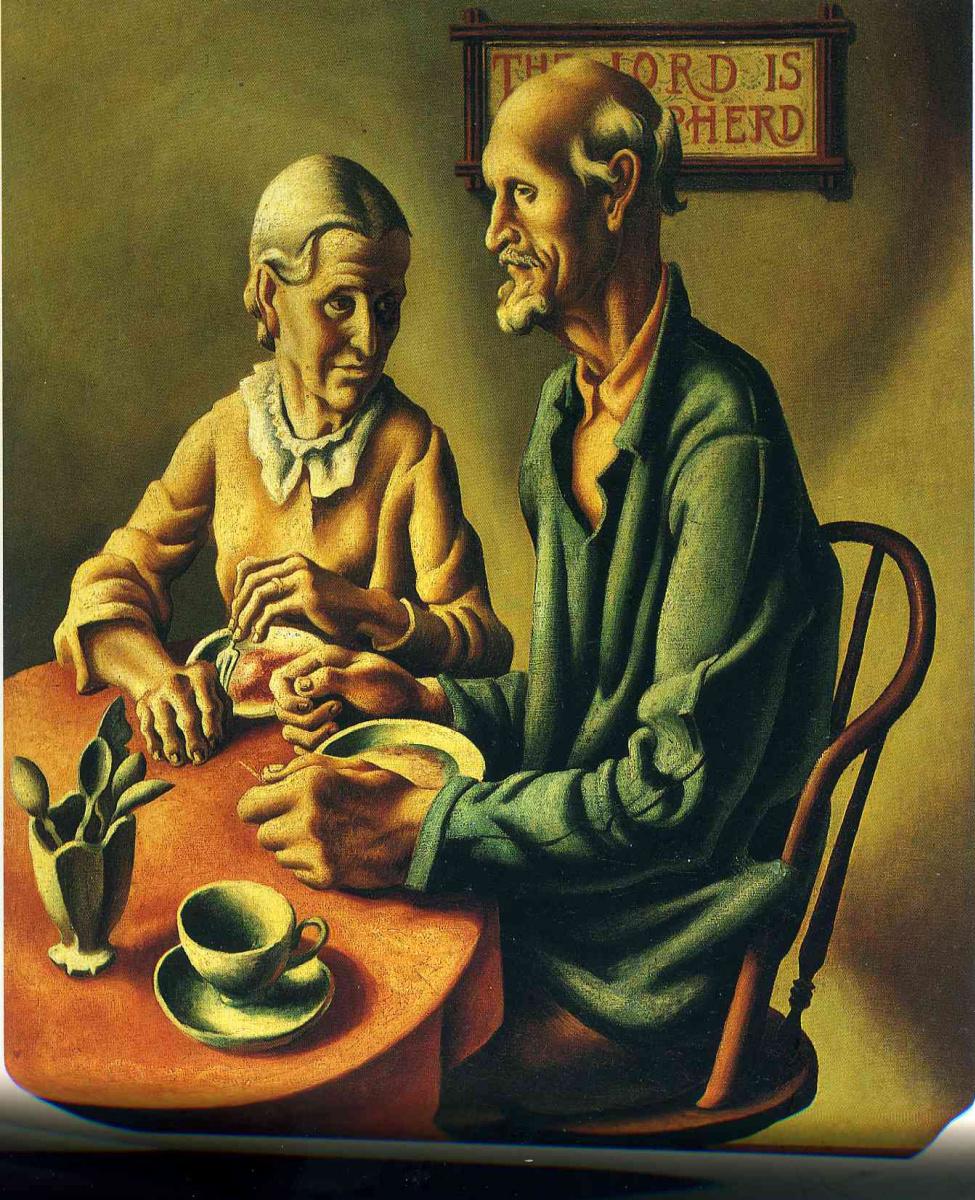 Томас Харт Бентон. Пожилые мужчина и женщина