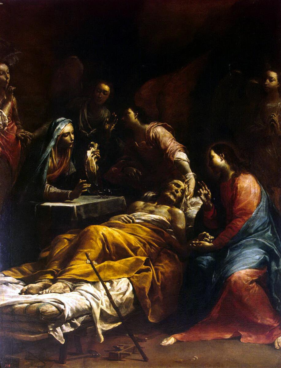 Джузеппе Мариа Креспи. Смерть Святого Иосифа
