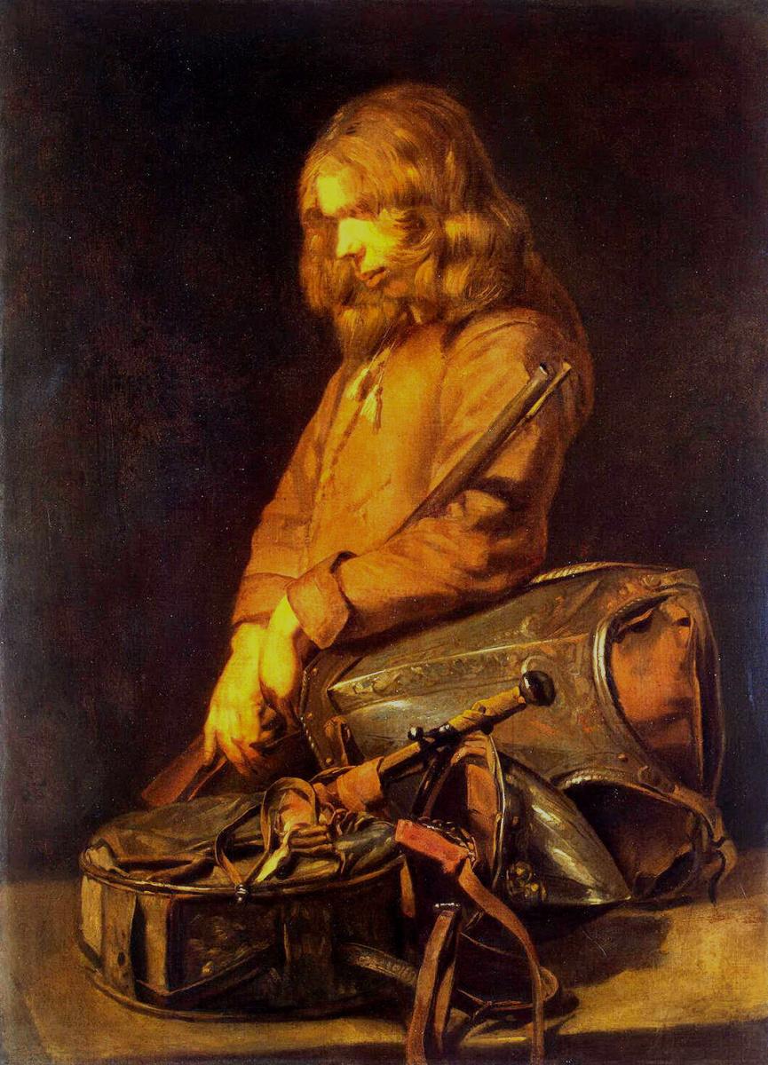 Франс Младший Халс. Молодой солдат