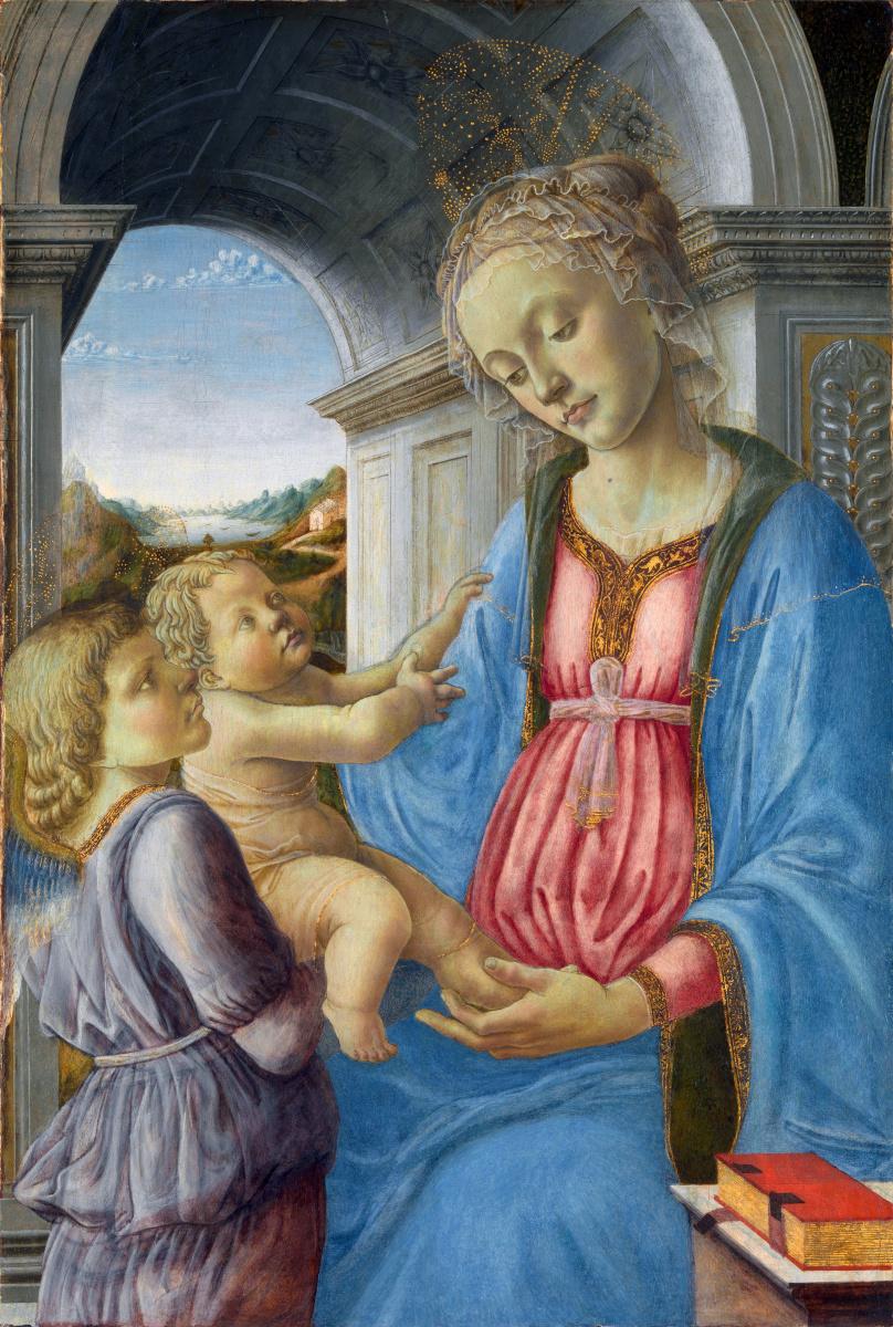Оф Фпа Филиппо Липпи Имитатор. Дева с младенцем и ангелом