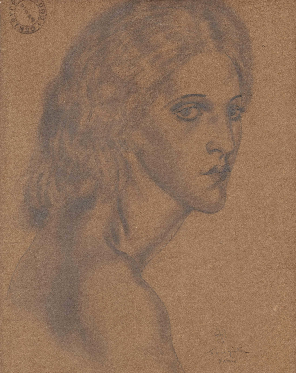 Цугухару Фудзита ( Леонар Фужита ). Portrait of a young woman