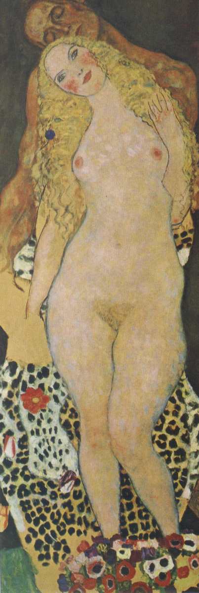 Gustav Klimt. Adam and eve (unfinished)