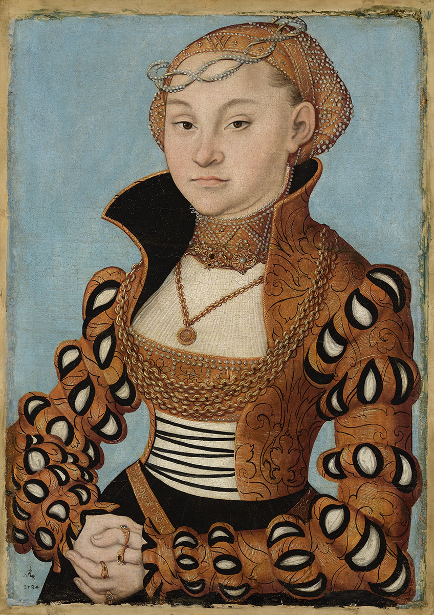 Лукас Кранах Старший. Портрет саксонской дамы
