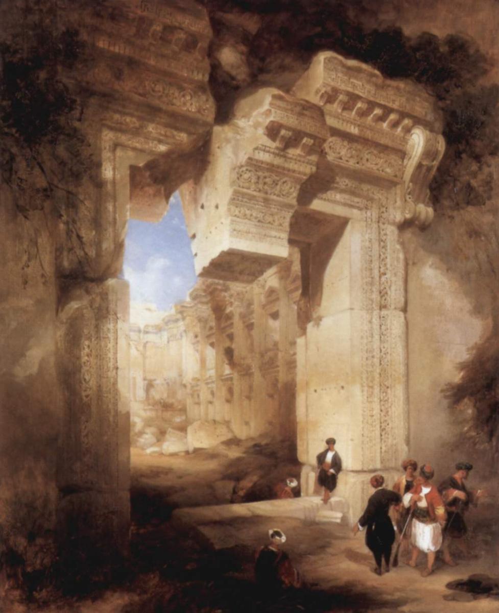 Дэйвид Робертс. Вход в Золотой храм в Баальбеке