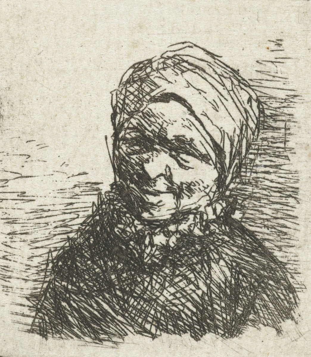 Adrian Jans van Ostade. Smiling woman