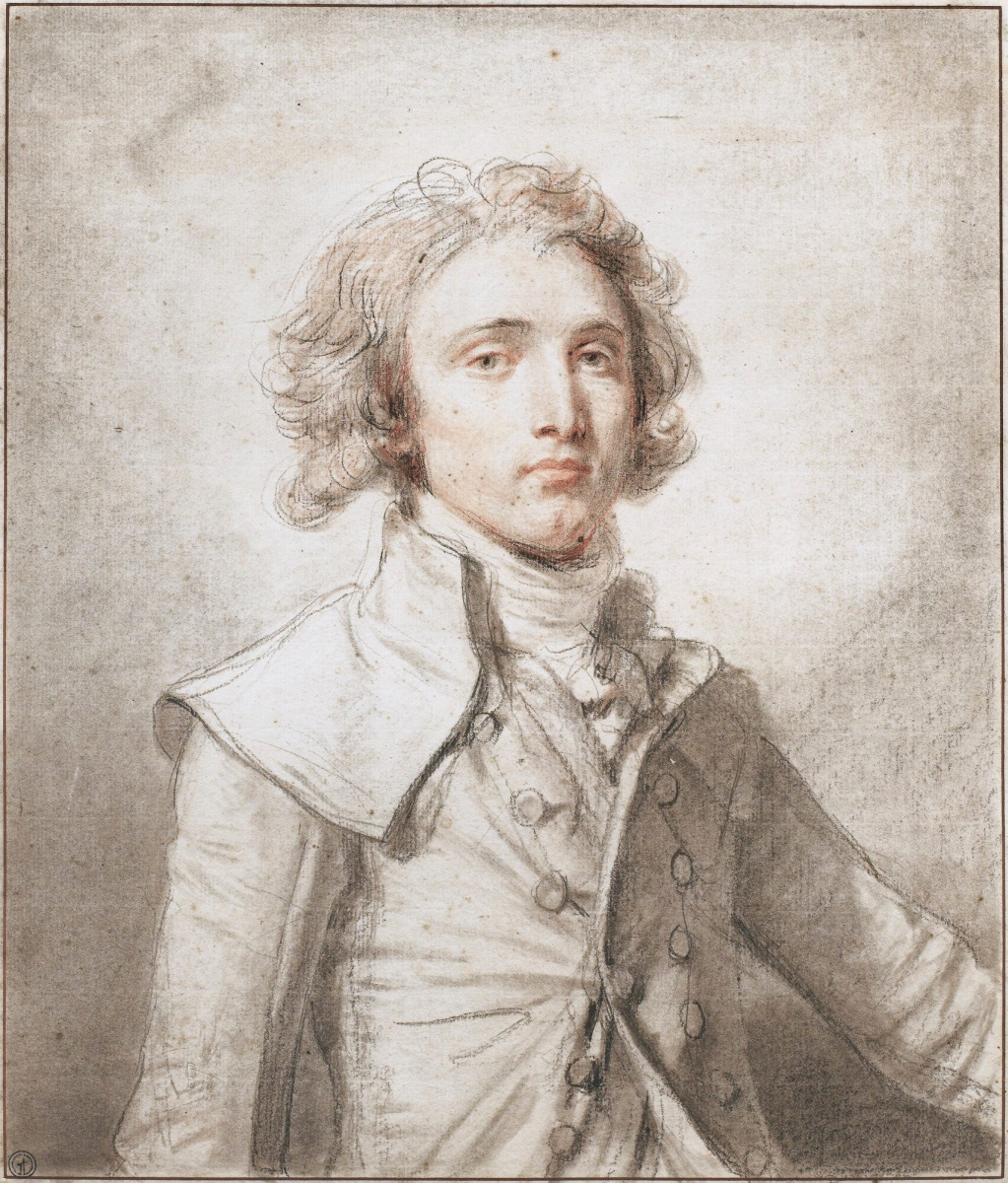 Jean-Baptiste Greuze. Portrait of a young gentleman