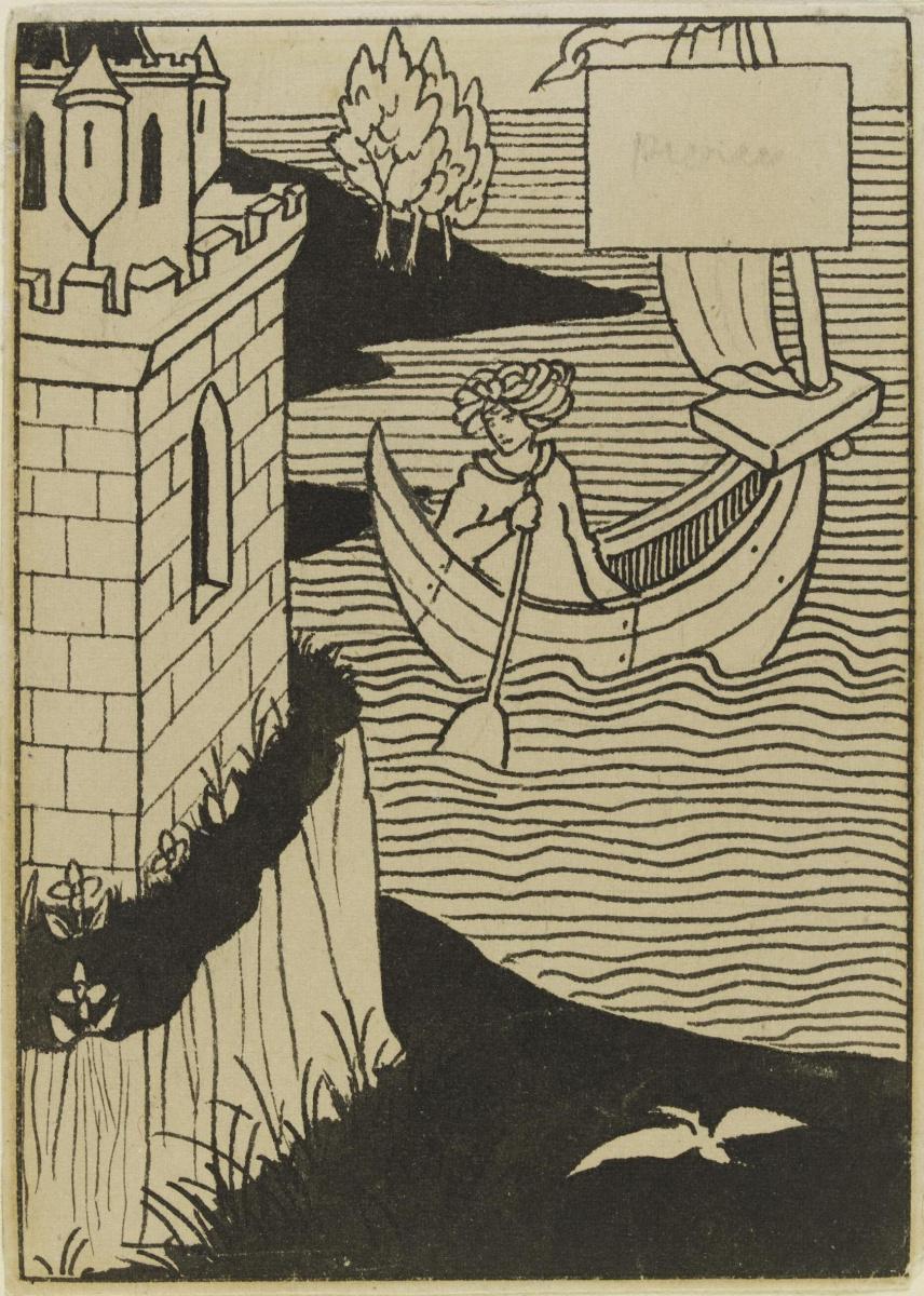 Обри Бердслей. Сэр Ланселот переплыл море