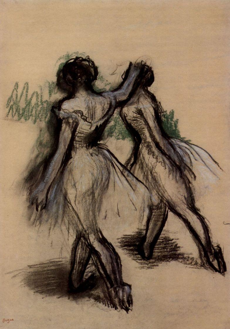 Эдгар Дега. Две балерины