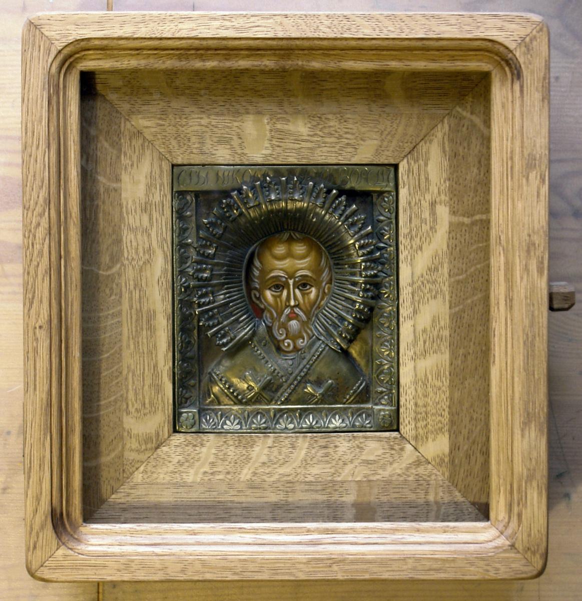 Moscow Icon Painting Workshop. Nicola oklad 19th century