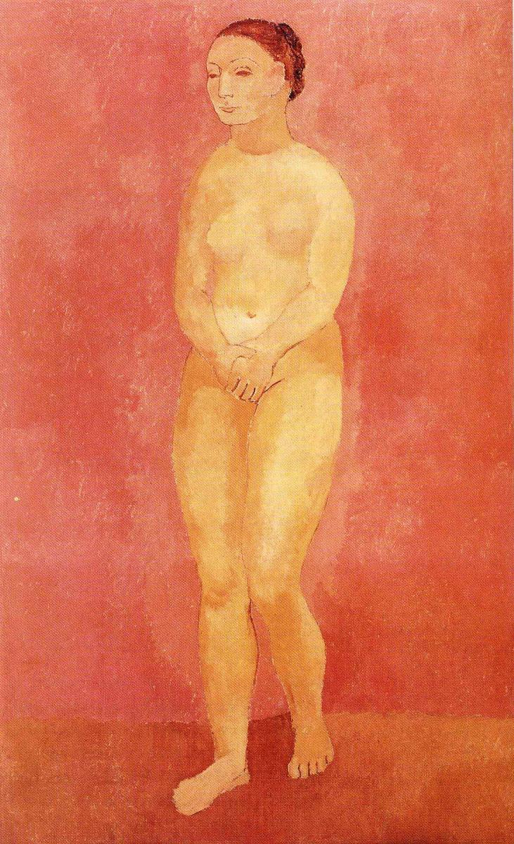 Пабло Пикассо. Стоящая обнаженная женщина