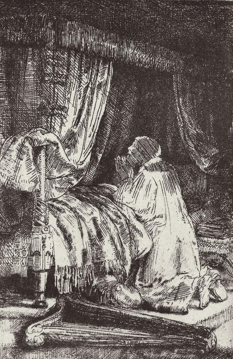 Рембрандт Харменс ван Рейн. Давид в молитве
