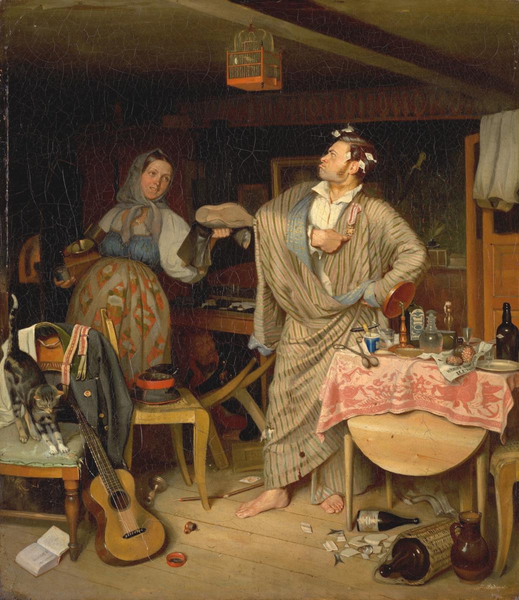 Павел Андреевич Федотов. Свежий кавалер (Утро чиновника, получившего первый крестик)