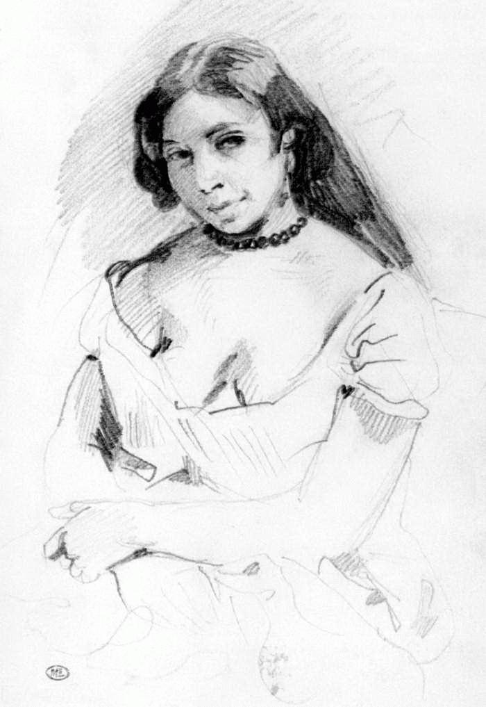 Eugene Delacroix. Aspasia (sketch)