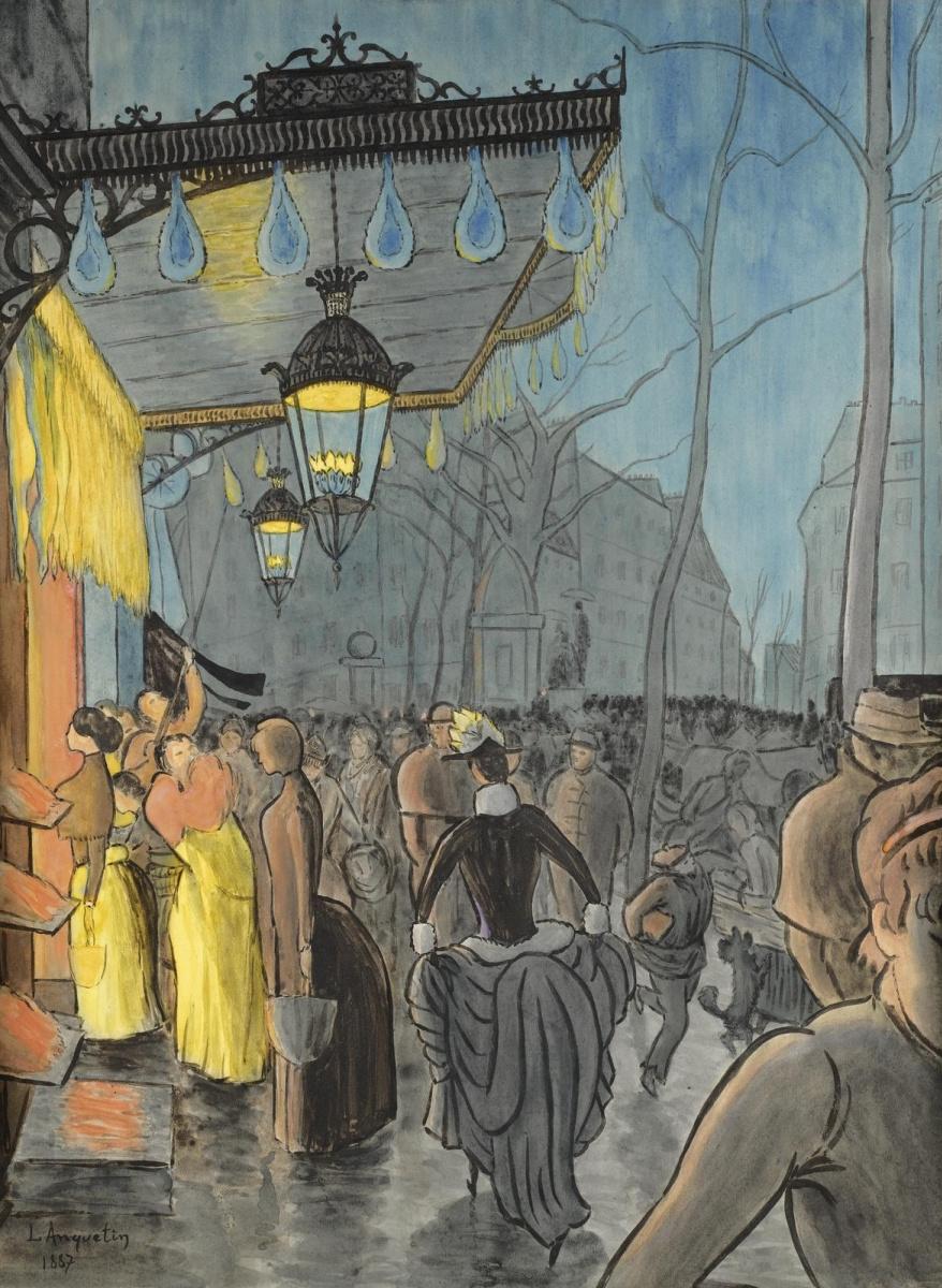 Луи Анкетен. Авеню Клиши, Париж. 1887