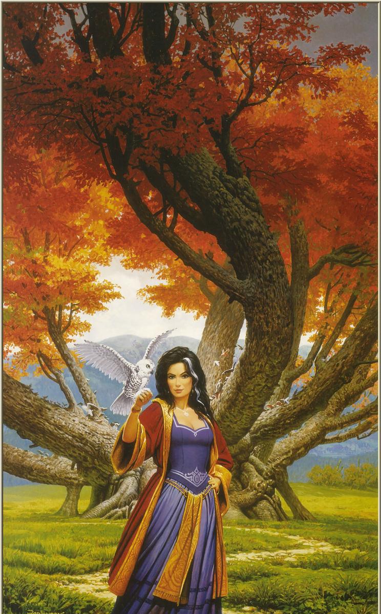 Кит Паркинсон. Очаровательная девушка у дерева