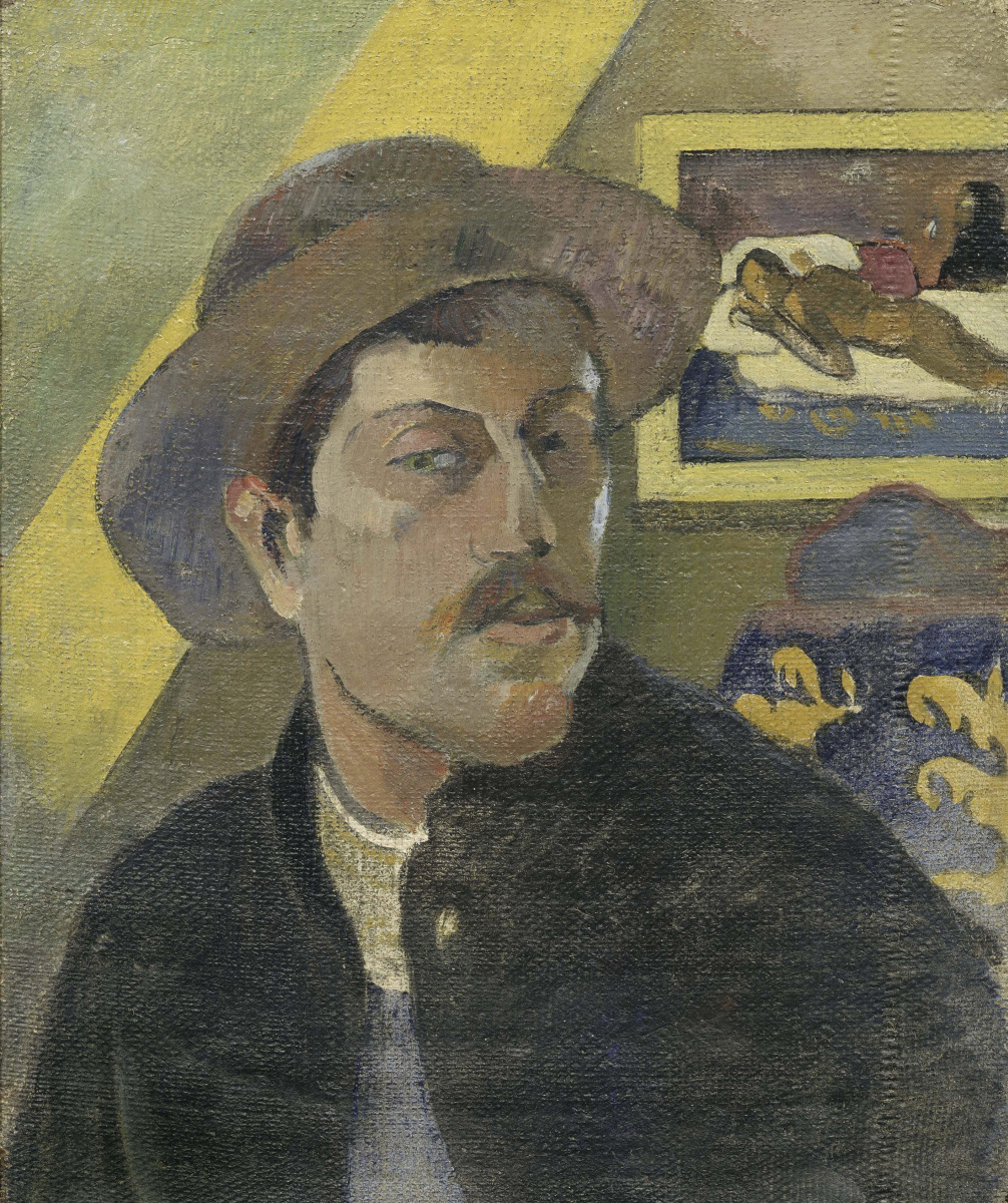 Paul Gauguin. Self-portrait in a hat