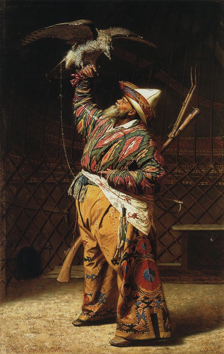 Vasily Vasilyevich Vereshchagin. A rich Kyrgyz hunter with a Falcon