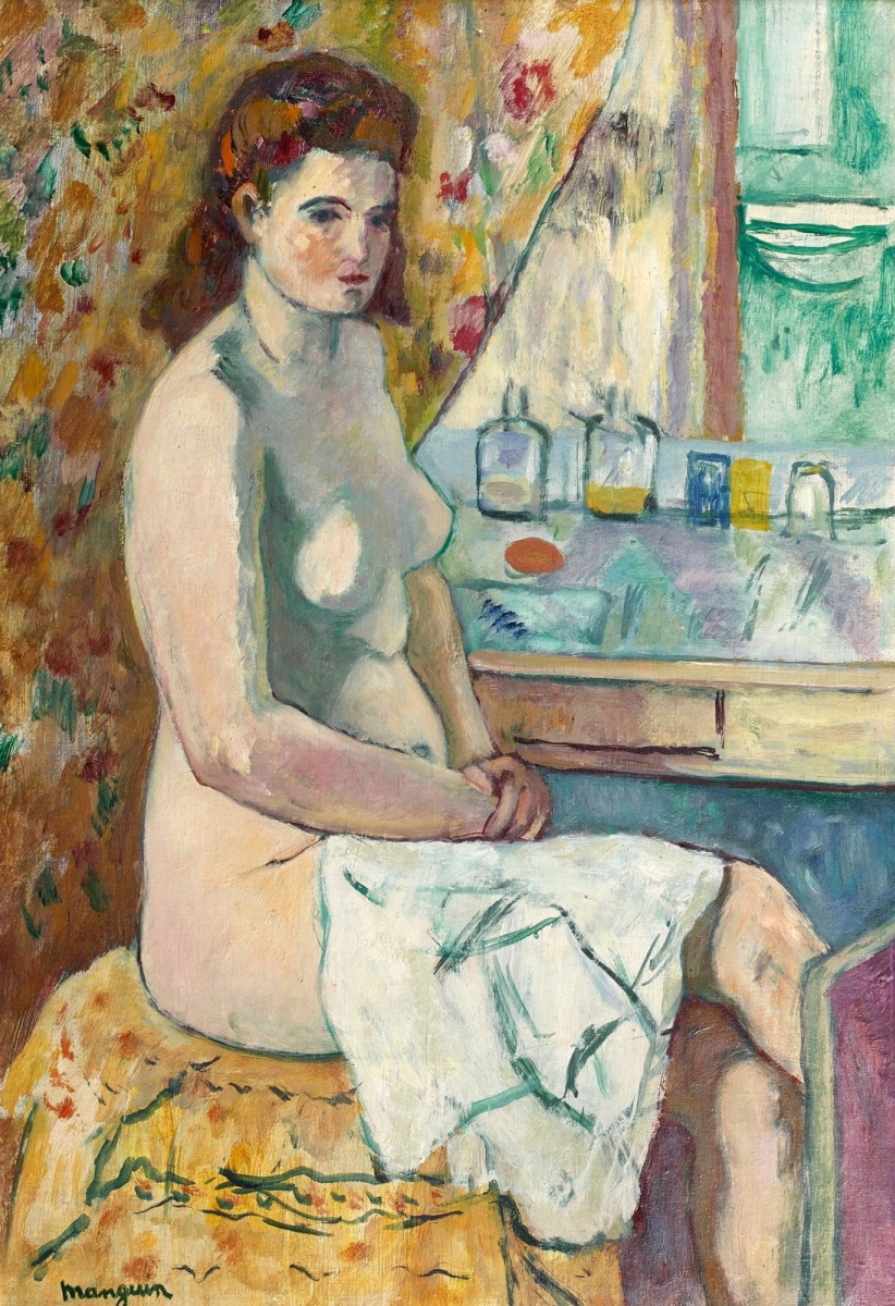 Henri Manguin. Nude at dressing table