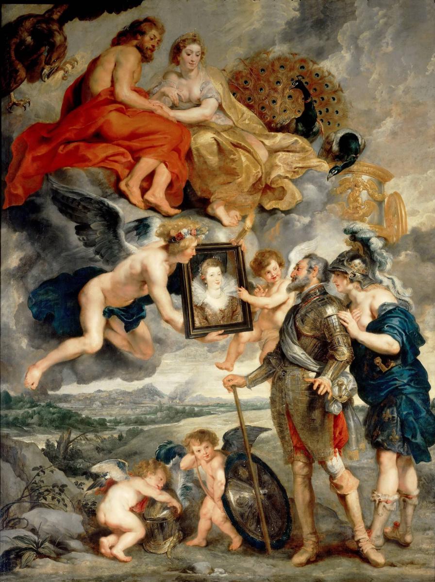 Питер Пауль Рубенс. Представление портрета Генриху IV