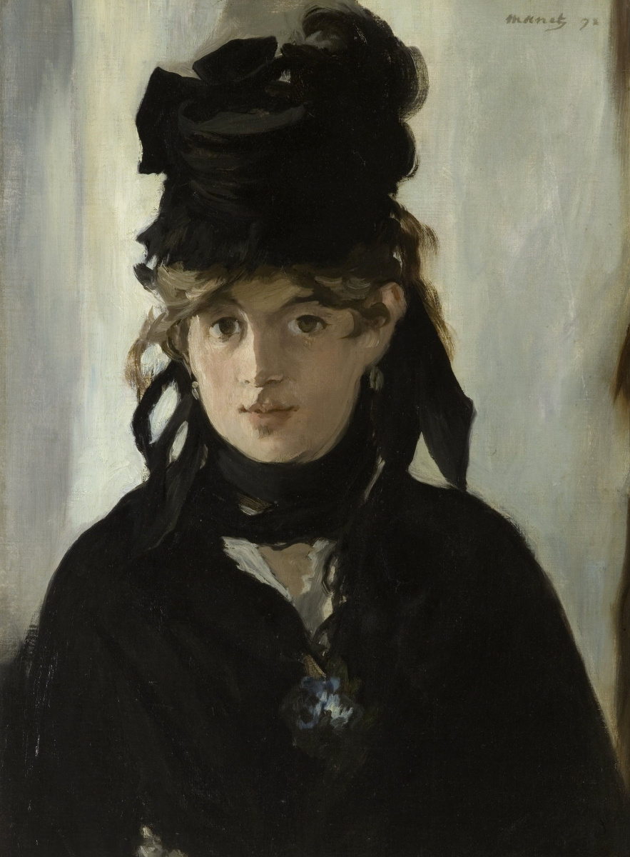 Edouard Manet. Portrait of Berthe Morisot with bouquet of violets