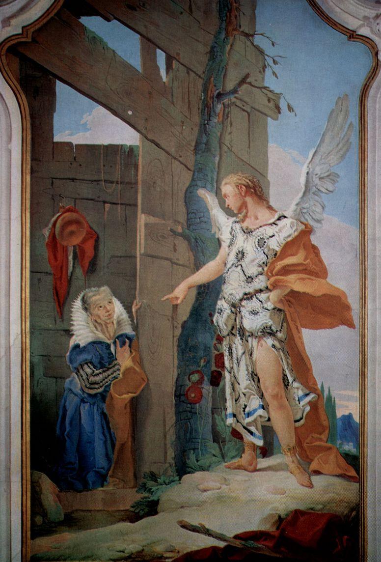 Джованни Доменико Тьеполо. Явление ангела Сарре