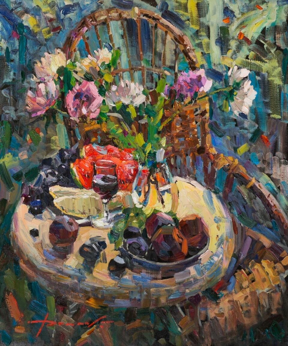 "Constantine Dolgashev. ""Morning"" size: 110×100"